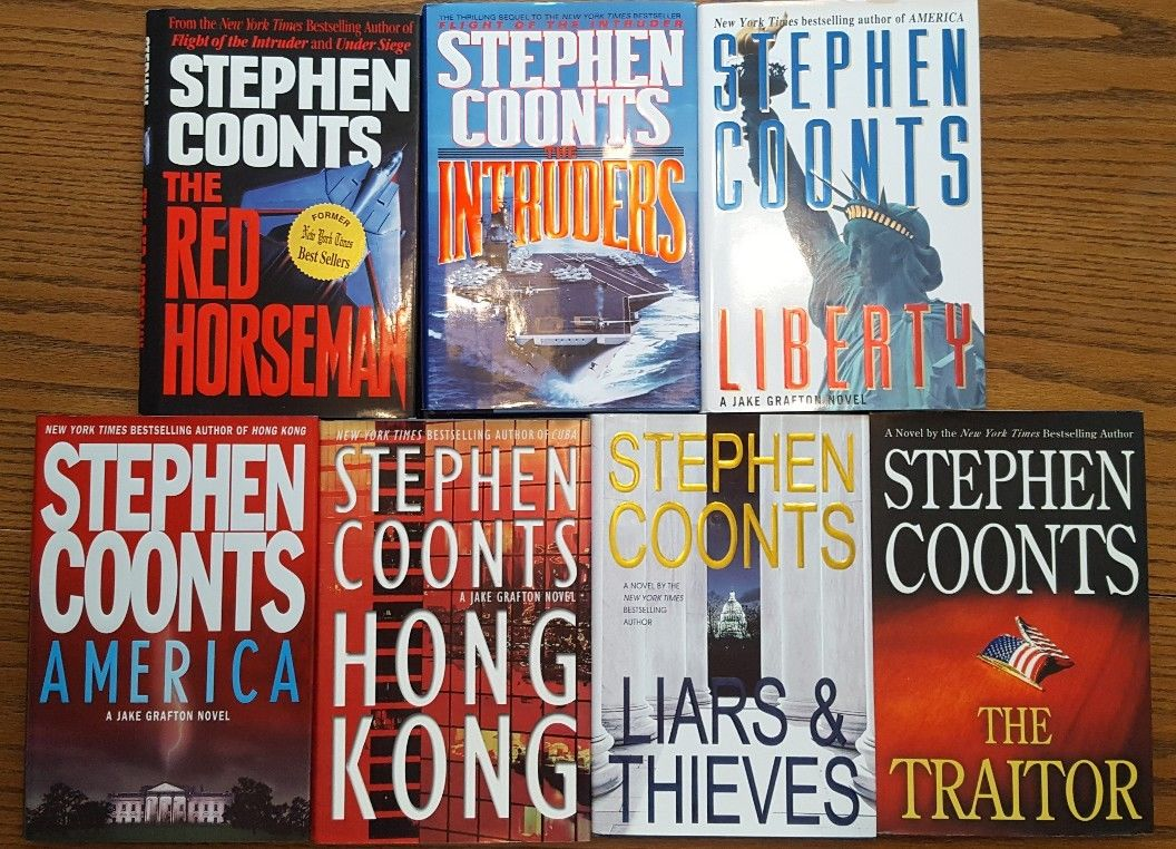 7 STEPHEN COONTS Hardcovers Jake Grafton Tommy Carmellini