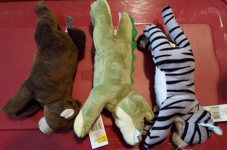 Stuffed Animal Bean Bag Friend Alligator Tabby Cat Brown Bear