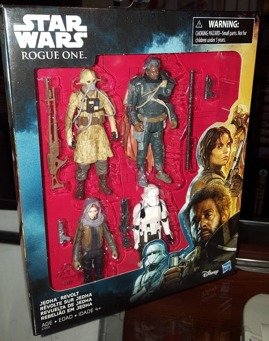 Star Wars Rogue One 4-pack Jedha Revolt  Edrio Two Tubes Saw Gerrera 3.75in MISB